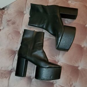 Jeffrey Campbell Black Platform ankle boots sz9